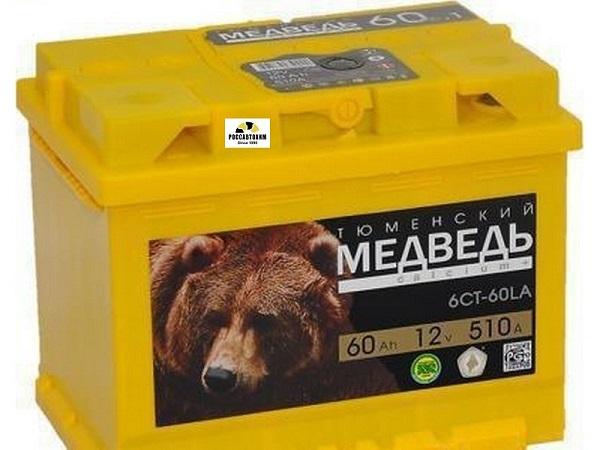 АКБ ТЮМЕНЬ Медведь 6СТ-60 АПЗ п/п