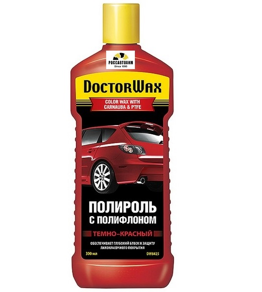 "Полироль для кузова ""DOCTOR WAX"" Карнауба-Тефлон (300 мл) (темно-красная)  DW8425"