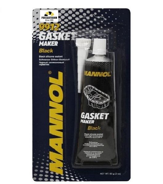 MANNOL герметик силиконовый черный 80мл 9912