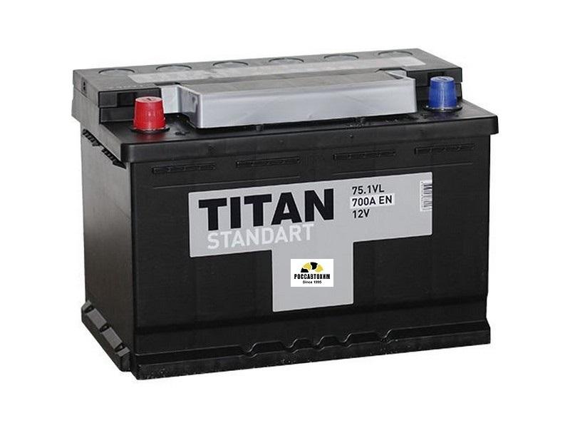 АКБ Титан-Standart 6СТ-75.1  75 А/ч п/п
