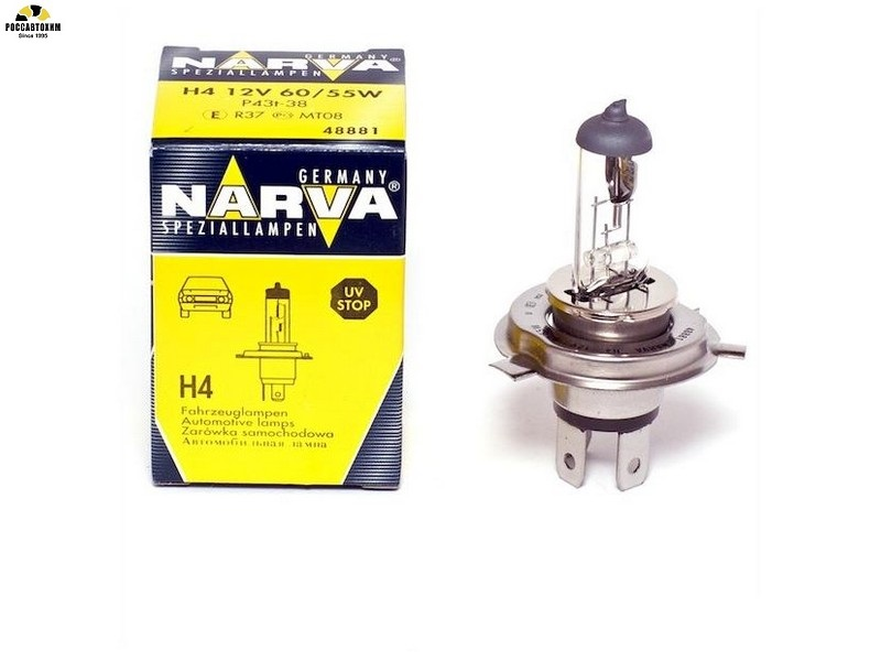 Лампа NARVA H4 48881 60/55Bт,12В