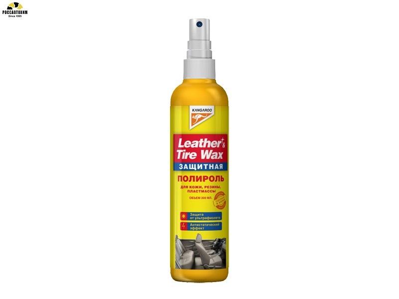 355036 Полироль панели  Leather&Tire Wax protectant 300мл