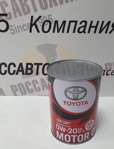 TOYOTA Motor Oil  0W20  SN/CF-5 1л  /08880-10506/ металл. канистра /3628/