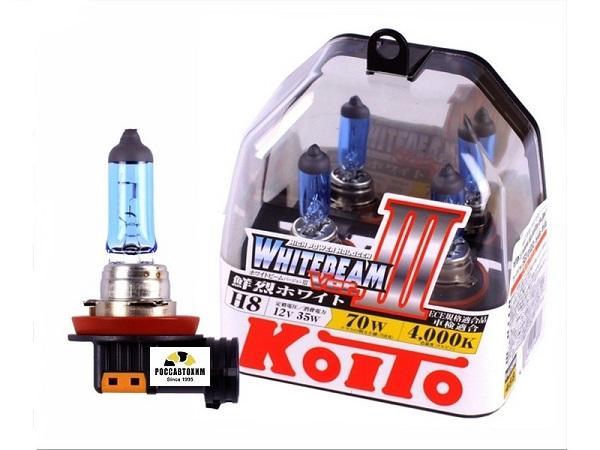 """Лампа  головного света """"KOITO"""" Whitebeam 20034 H8 12V 35W (70W) (Other Brand) 2шт пласт упак. P0758W"""
