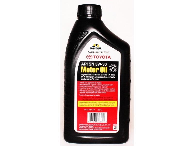 TOYOTA Motor Oil  5W30  SN (q) 0.946л  п/с (00279-1QT5W30)