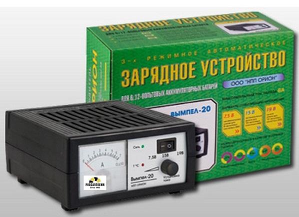 """Зарядное устройство """"Вымпел-20"""" (автомат 0-6А, 6/12В, стрелочный ампер))"""