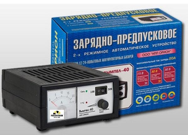 """Зарядное устройство """"Вымпел-40"""" (автомат 0-20А, 12/24В, линейный ампер)"""
