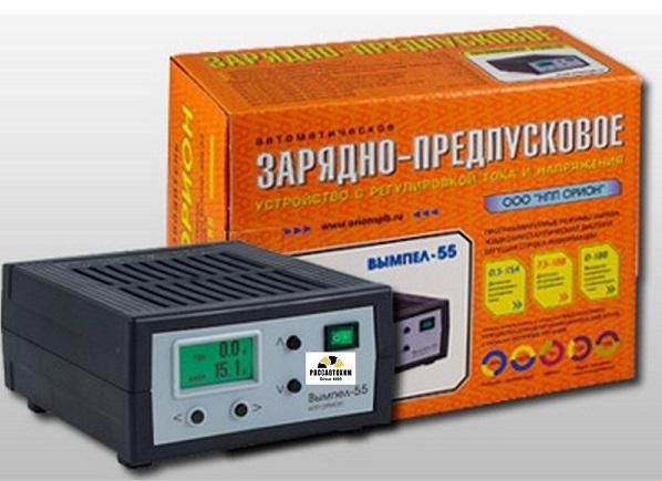 """Зарядное устройство """"Вымпел-55"""" (автомат 0-18А, 0-12В, ЖК амп)"""