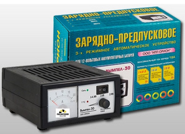 """Зарядное устройство """"Вымпел-30"""" (автомат 0-18А, 3-х режимн., стрелочный ампер))"""