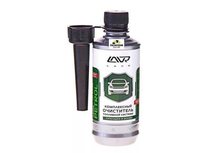 Компл. очиститель топл.системы LAVR присадка в бензин (на 40-60л) 310мл /2123/