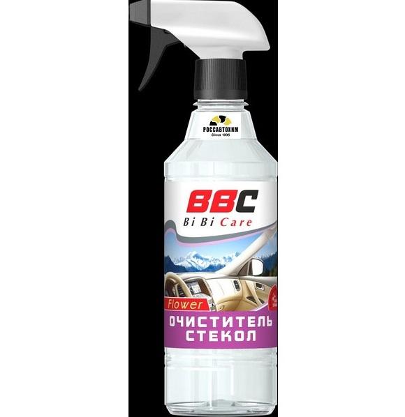 Очиститель стекол Цветочный BiBiCare 550мл. LAVR (триггер) /4012/