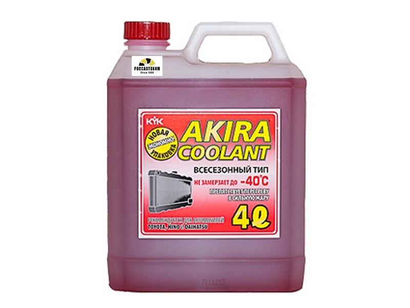 Akira Coolant -40 красный / Антифриз всесезонный (4л)