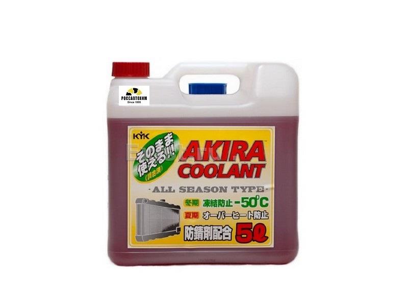 AKIRA COOLANT -50 красный / Антифриз всесезонный (5л)