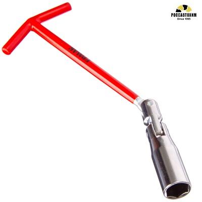 ЕРМАК Ключ свечной с карданным шарниром 16мм  усиленный TP005  /766-018/