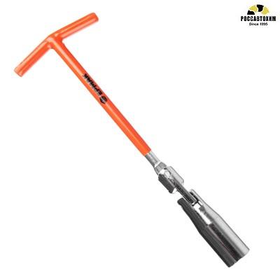 ЕРМАК Ключ свечной с карданным шарниром 21мм  усиленный TP006 /766-019/