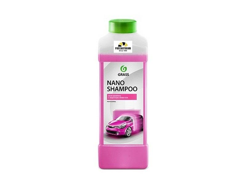 "Автошампунь GRASS ""Nano Shampoo"" защита 30 дней, пленка-блеск 1л"