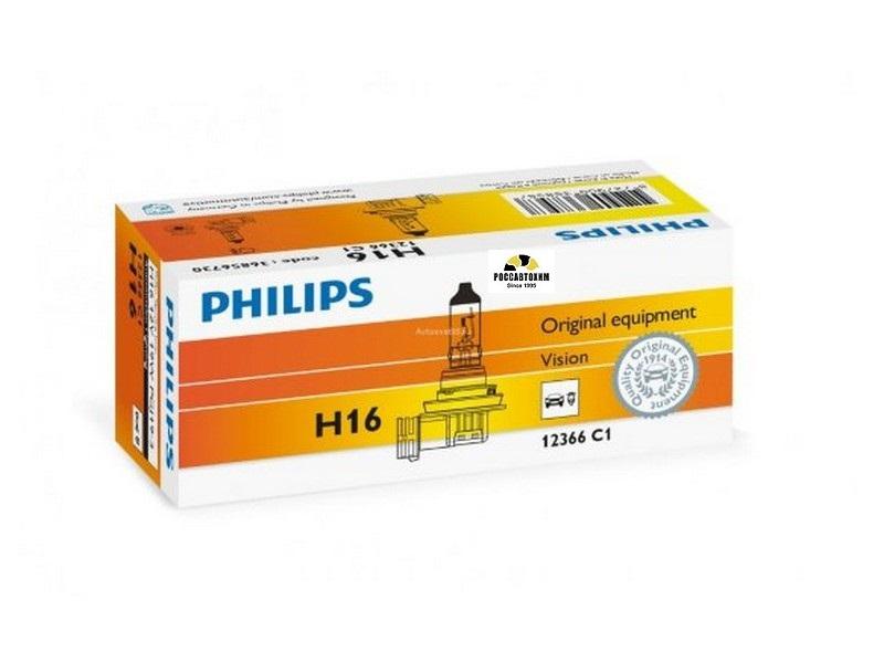 Лампа  PHILIPS H16 12366 C1  19W 12V