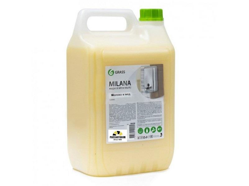 """Жидкое мыло  GRASS """"Молоко и мед""""   5л."""