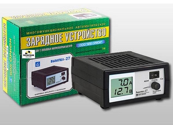 """Зарядное устройство """"Вымпел-27"""" (автомат 0-7А,14, 1/14, 8/16В, сегментный ЖК инд.)"""