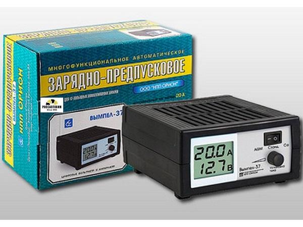 """Зарядное устройство """"Вымпел-37"""" (автомат 0-20А,14, 1/14, 8/16В, сегментный ЖК инд.)"""