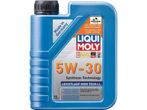 39005 LIQUI MOLY масло моторное Leihtlauf High Tech LL 5W30, 1л