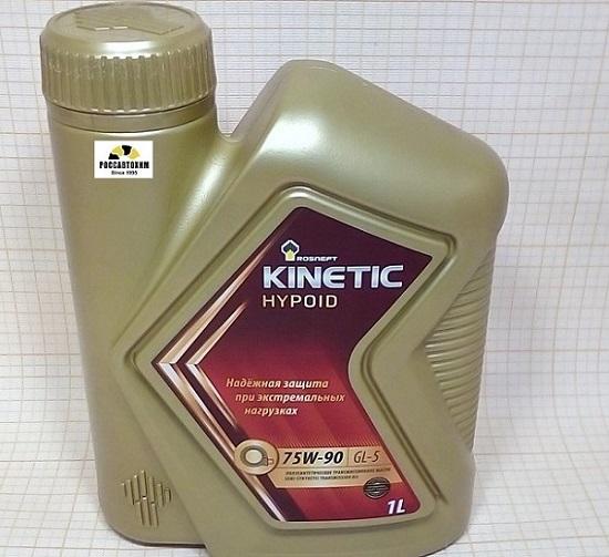 Роснефть Kinetic Hypoid 75W90 GL-5 п/синт. 1л новая канистра