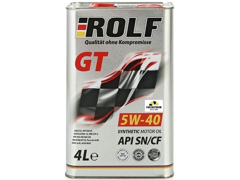 Rolf GT 5W40 SN/CF синт.  1л. Арт. пр-ля: 322234