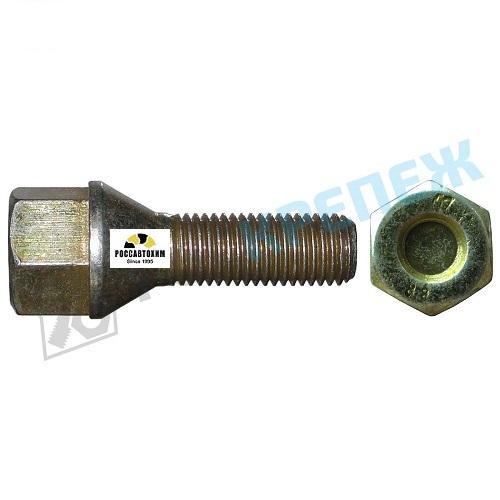 Болт М12*30,5*1,5 колёсный иномарки с буртиком ключ 19    11675