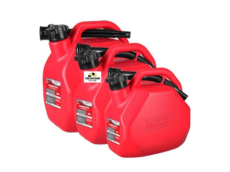 Канистра 3ton OCTANE RESERVE 10л ОРАНЖЕВАЯ для топлива (усиленная) с крышкой и лейкой