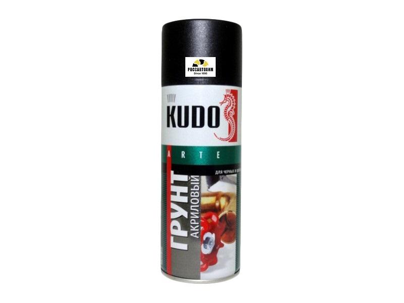 """Грунт акриловый """"KUDO"""" (520 мл) (черный) (аэрозоль) (универсальный) KU-2103"""