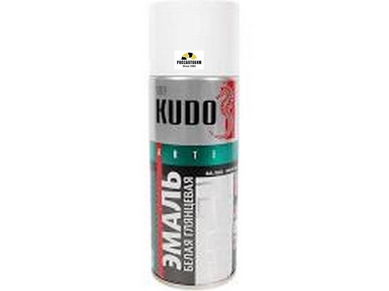 """Краска аэрозоль """"KUDO"""" белая глянцевая (520 мл) KU-1001"""