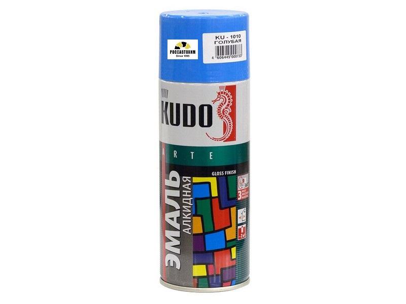 """Краска аэрозоль """"KUDO"""" голубая (520 мл) KU-1010"""
