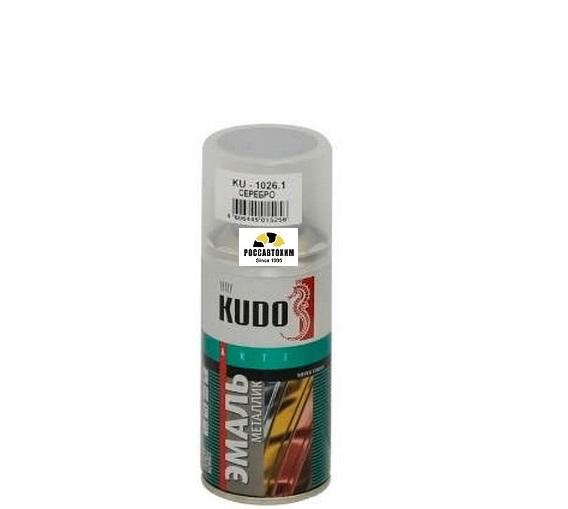 "Краска аэрозоль металлик ""KUDO"" серебро (210 мл) KU-1026.1"