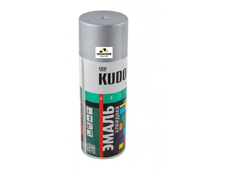 "Краска аэрозоль металлик ""KUDO"" серебро (520 мл) KU-1026"