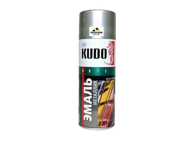 """Краска аэрозоль металлик """"KUDO"""" хром (520 мл) KU-1027"""