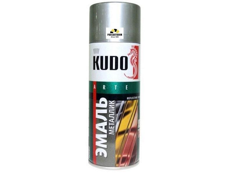 "Краска аэрозоль металлик ""KUDO"" хром зеркальный (520 мл) KU-1033"
