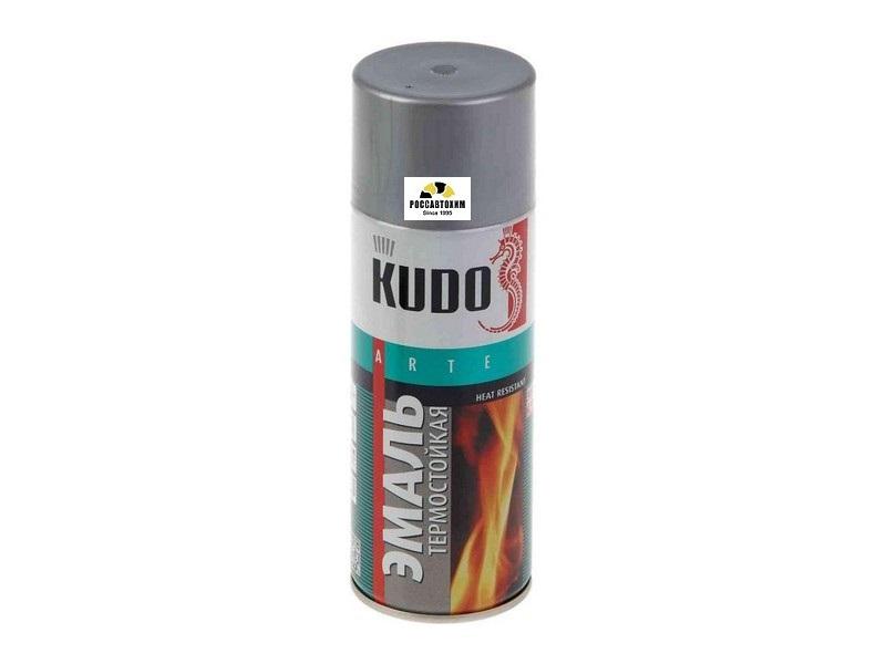 """Краска термостойкая """"KUDO"""" серебро (520 мл) (аэрозоль) KU-5001"""