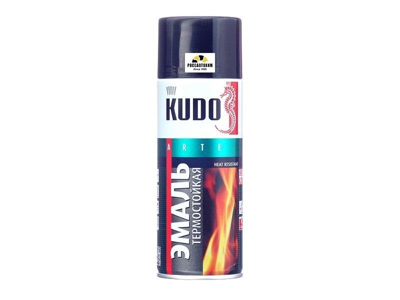 """Краска термостойкая """"KUDO"""" черная (520 мл) (аэрозоль) KU-5002"""
