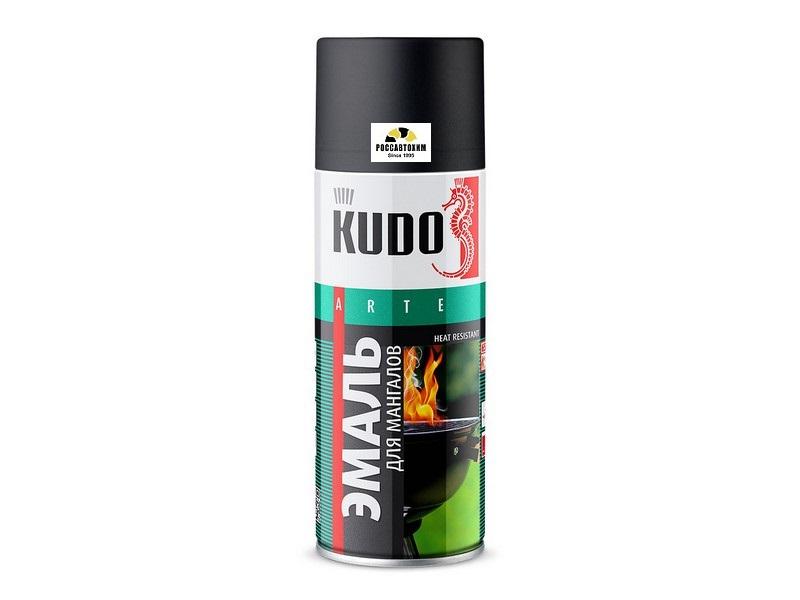 """Краска термостойкая """"KUDO"""" черная (520 мл) (для мангалов ) (аэрозоль) KU-5122"""
