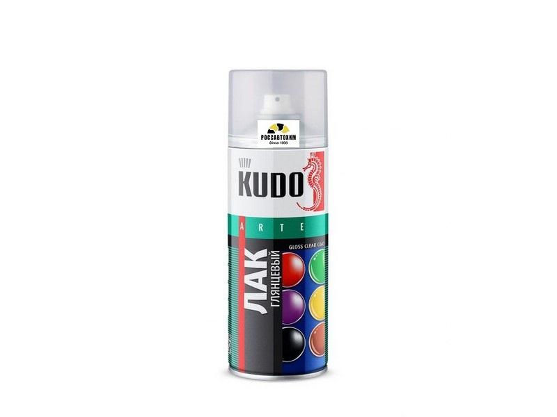 """Лак акриловый """"KUDO"""" (520 мл) (универсальный, глянцевый ) (аэрозоль)"""