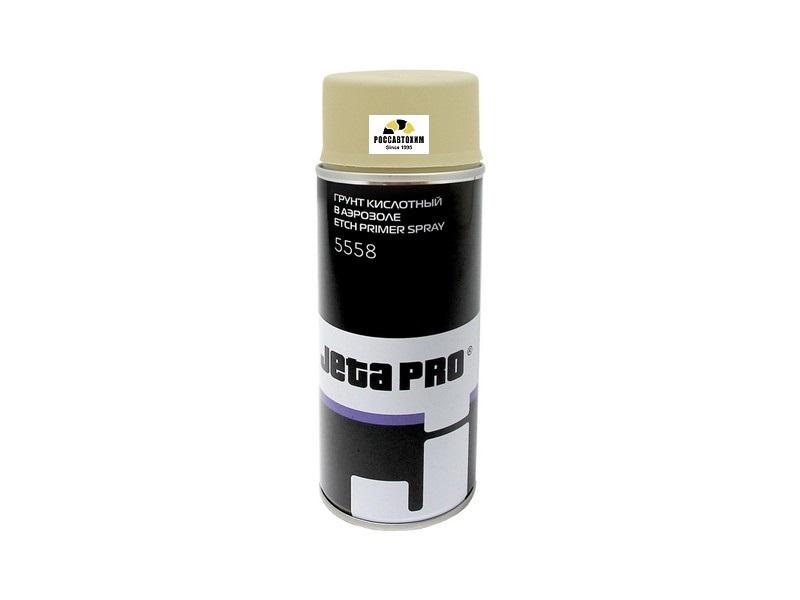 Грунт-спрей кислотный 1К, для защиты окрашенного металла, цвет бежевый 400мл.JETAPRO 5558
