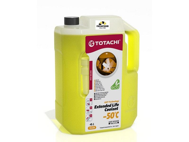 TOTACHI EXTENDED LIFE COOLANT    -40 C , 4л Охлаждающая жидкость низкозамерзающая  (желтый)