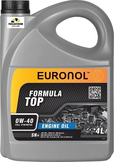 EURONOL TOP FORMULA 0w-40 SN+ 4L 80190