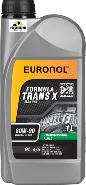 EURONOL TRANS X 80w-90 GL-4/5 1L