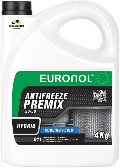 EURONOL ANTIFREEZE HYBRID READY G11 4kg ( зеленый )