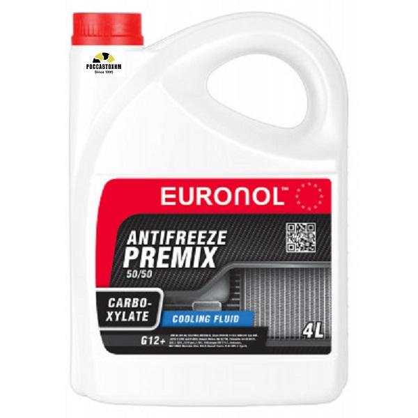 EURONOL ANTIFREEZE CARBOXYLATE READY G12+ 4kg ( красный )